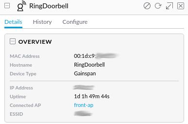 Unable to connect Ring doorbel | Ubiquiti Community