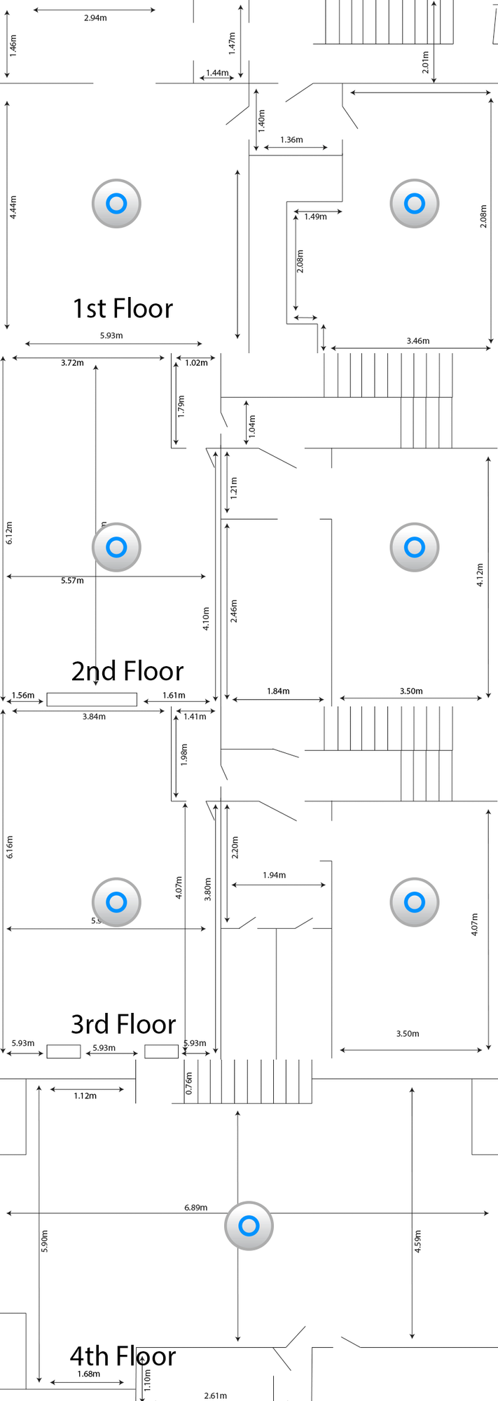 Office Setup Wifi Layout Recommendations Small Rooms Multiple Floors Ubiquiti Community