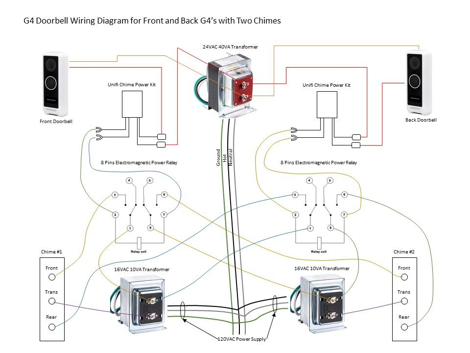 Wiring Two G4 Doorbells With, Doorbell Wiring Diagram Two Chimes