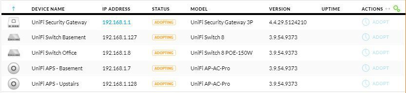Unable to Adopt Devices After Cloud Key Reset/Restore | Ubiquiti