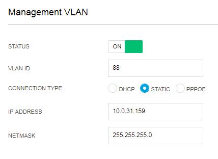 Default Gateway for Management VLAN | Ubiquiti Community